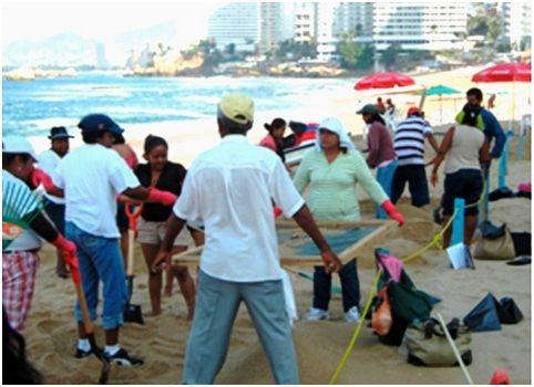limpieza playa